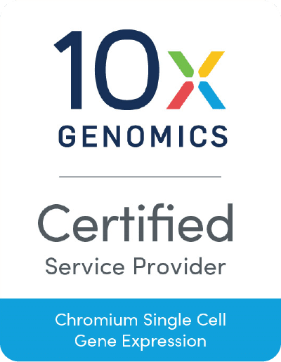 10x GENOMICS Certified Service Provider Chromium Single Cell Gene Expression